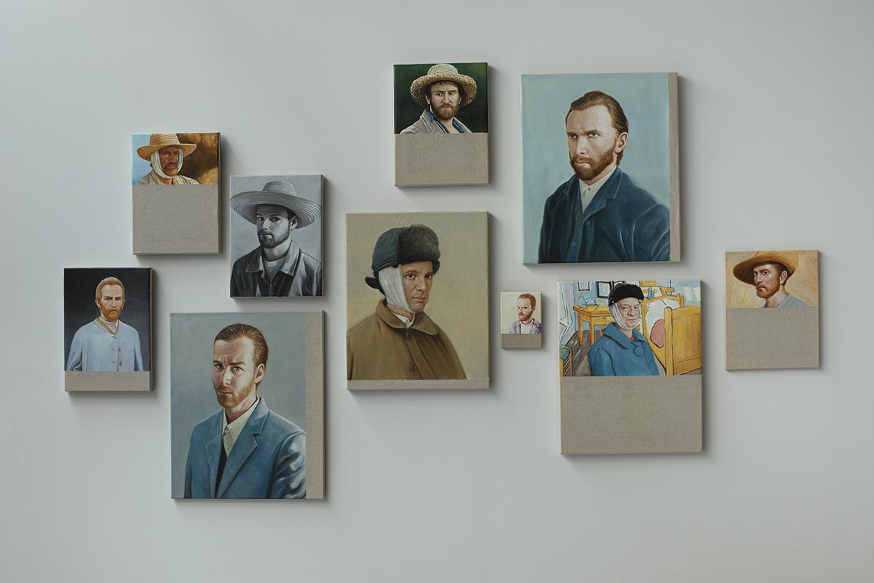 Chinese Whisper - Neue Malerei (Van Gogh I-X) | 2015 | Öl auf Leinwand |Kompl