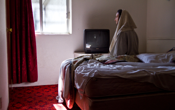 Jesus hotel room