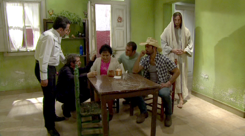 Jesus on Triunfo del Amor (Triumph of Love), Telenovela production set